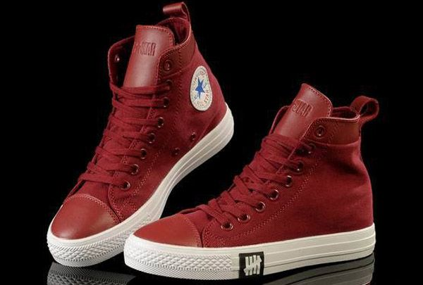 converse Unisex Light ox Converse Chuck Taylor All Star leather Red Canvas  High Tops Sneakers 40b6f1df4