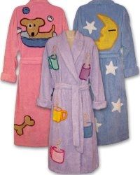 Chenille bath robes by Canyon Group. I have one of these robes in the pink  chenille with dog bones all over it and on the center back a large dog  holding a ... 4b920e965