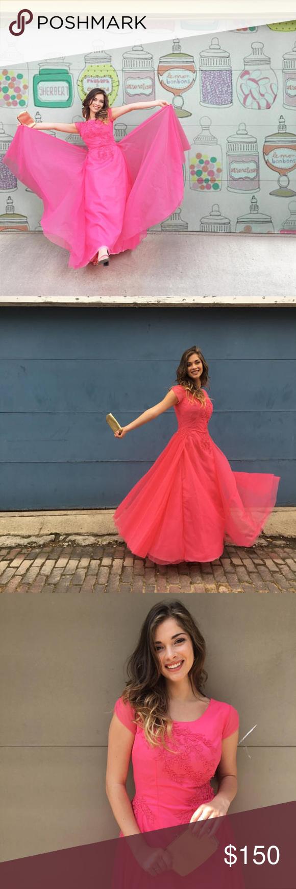 Vintage us fluffy pink prom dress in my posh picks