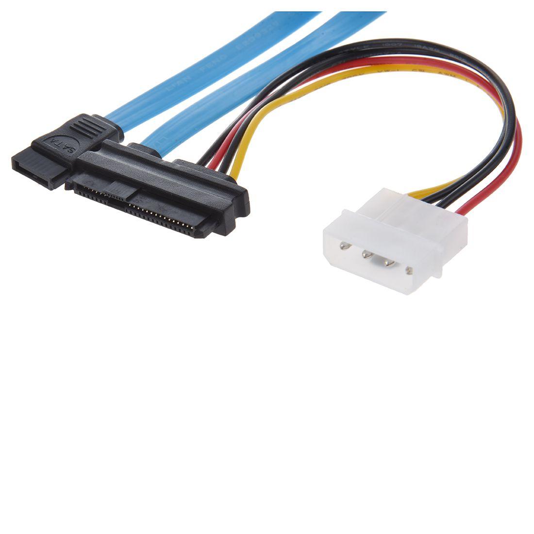 WSFS Hot 7 Pin SATA to SAS 29 Pin & 4 Pin Connector Power Cable ...