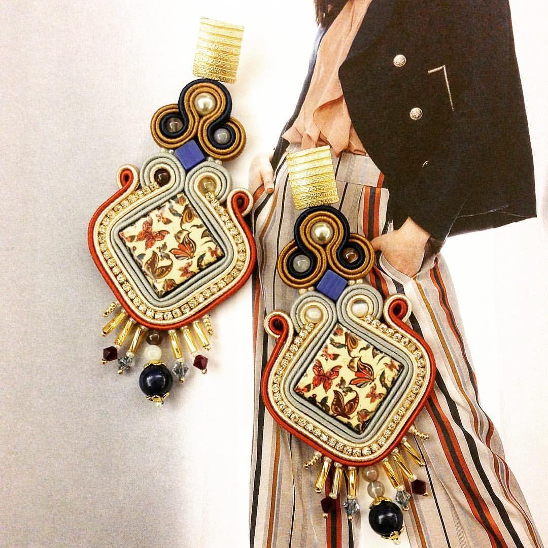 Pin by irina stepanova on soutache earrings u rings pinterest