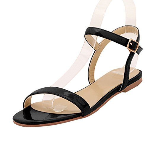 12a14d1870dab ZriEy women's New Style Flat Sandals Sexy Ankle Strap Buckle Low ...