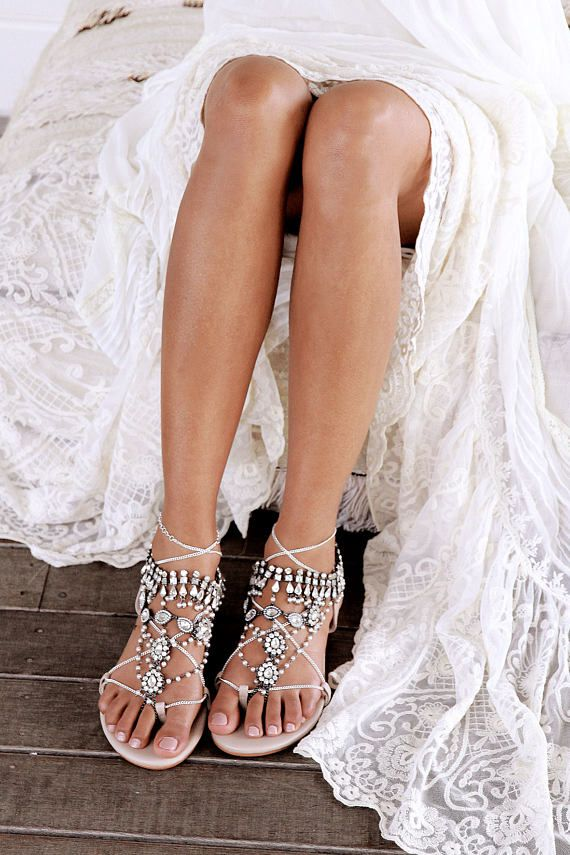 37e8976d4d5d85 Nude flat Sandal by Forever Soles. gladiator sandal with silver chain. Worn  with Ancient Dance barefoot sandals over the top! Both available from our  ETSY ...