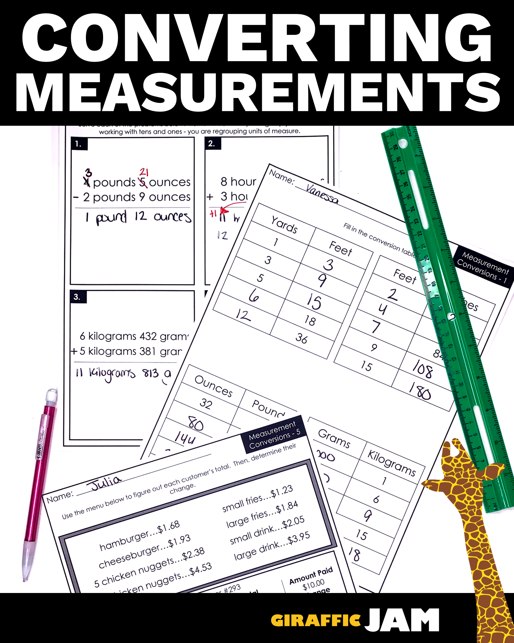 hight resolution of Measurement Worksheets   Measurement Homework   Measurement and Data   Measurement  worksheets