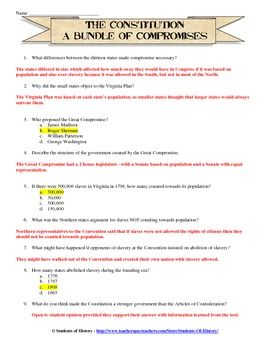 Constitutional Convention Worksheet Homework With Images