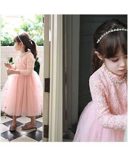 e104f56f23e Buy Lil Mantra Party Dress Peach for Girls (3-4 Years) Online in India