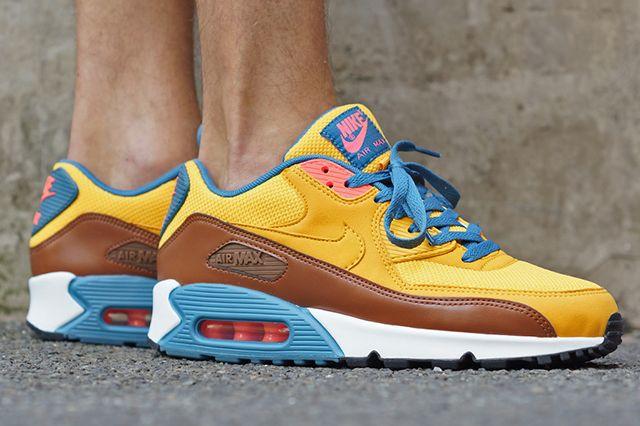 NIKE AIR MAX 90 ESSENTIAL – UNIVERSITY GOLD COGNAC - Sneaker Freaker. This  color scheme reminds me of. 4a61fcc84