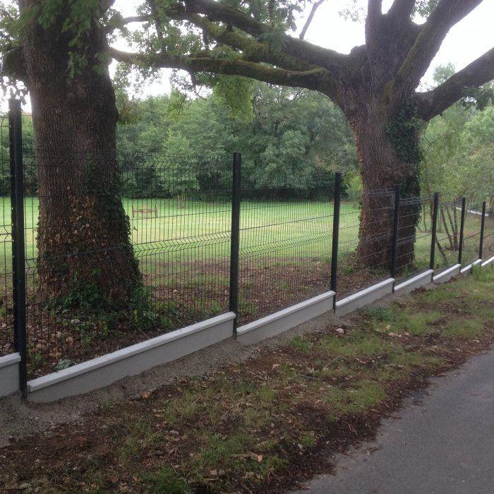 Kit Grillage Rigide Poteaux H Plaques Pvc Longueur 10 Metres Cloture Panneau Rigide Cloture Jardin Et Panneau Rigide