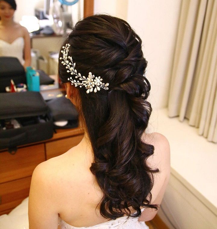 32 Pretty Half up half down hairstyles – partial updo ...