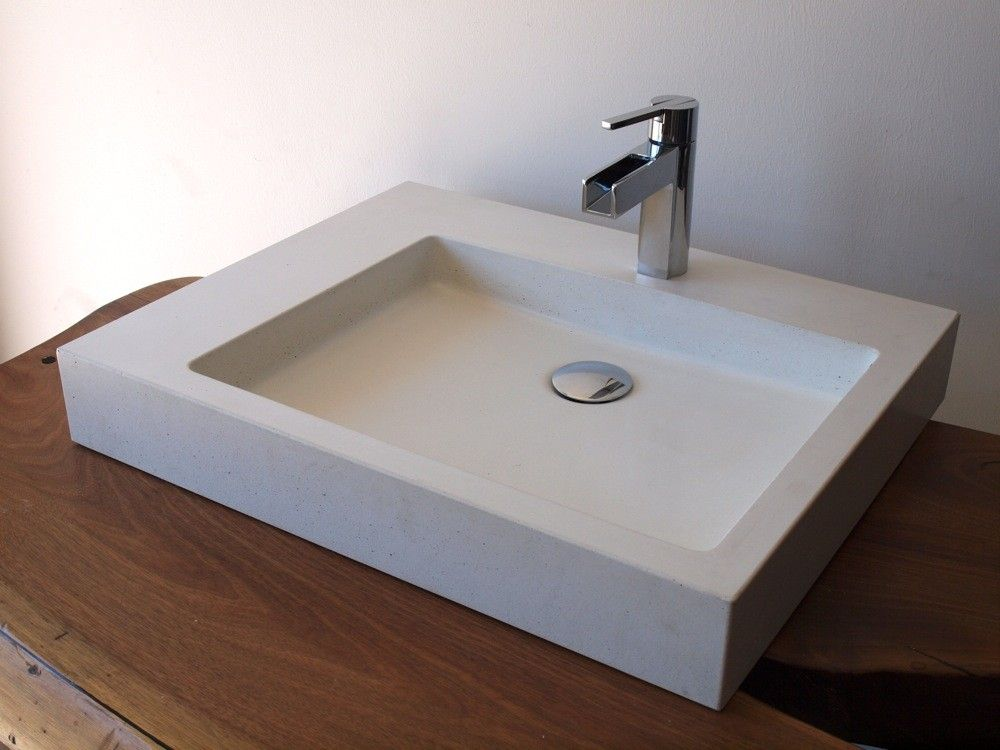 Wonderful Concrete Vessels Are All The Rage Countertop Ideas With Alluring Vessel Sinks For