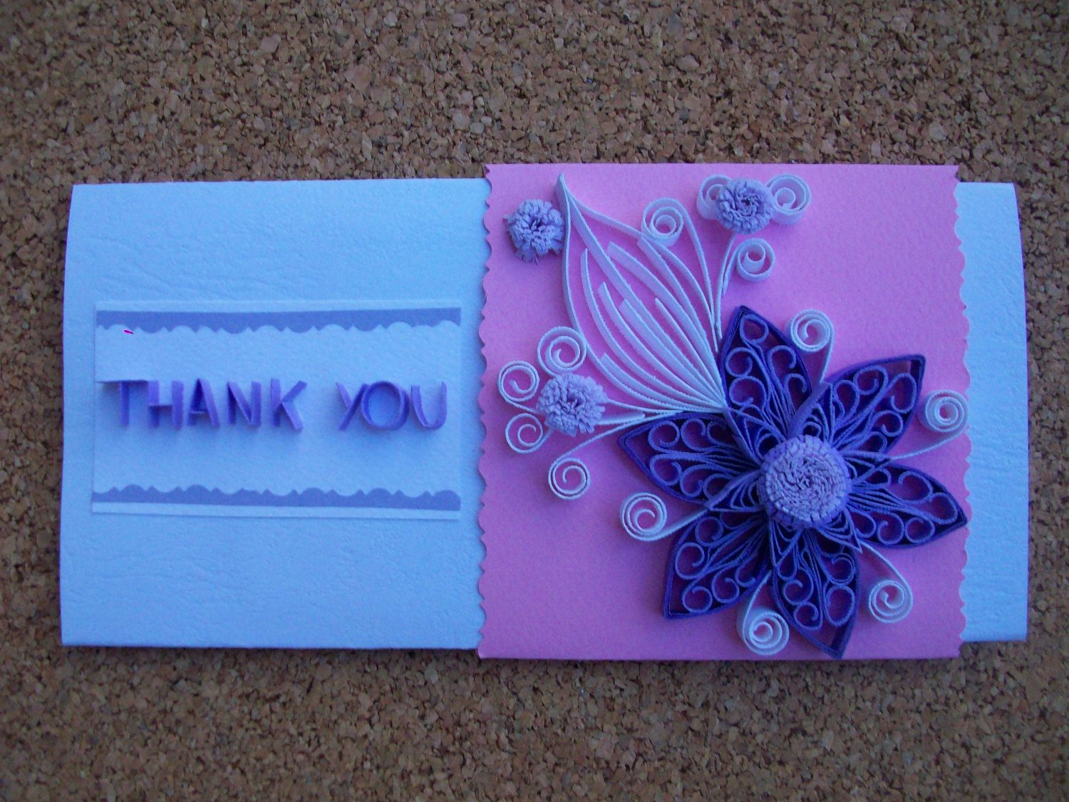Thank you card paper quilling card handmade quilled card thank thank you card paper quilling card handmade quilled card thank you greeting card paper quilling quilling art greeting card kristyandbryce Images