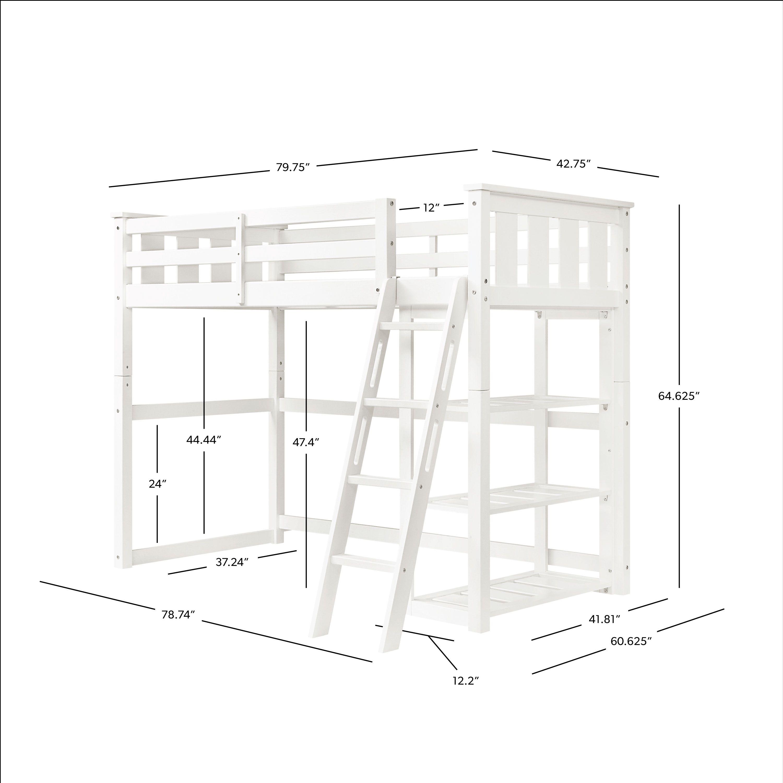 Better homes gardens kane twin loft bed multiple