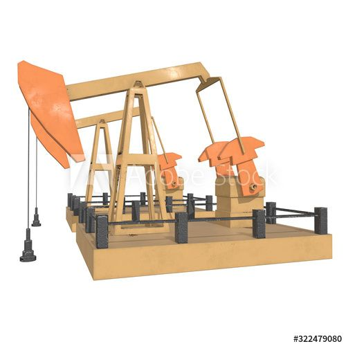 Oil well rig jack. Finance economy polygonal petrol production. Petroleum fuel industry pumpjack derricks pumping drilling. 3d render illustration isolated on white background. , #Sponsored, #petrol, #polygonal, #production, #fuel, #Petroleum #Ad