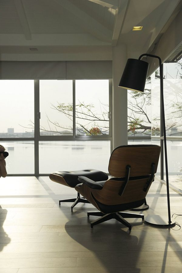 Beautiful Luxury Gl House Completed With Stunning Lamp Design Sleek Modern Eames Chair At The Baan Citta Residence Black Flo