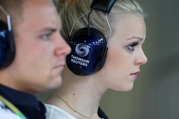 Valtteri Bottas (FIN) Williams Third Driver with his girlfriend Emilia Pikkarainen (FIN) Olympic swimmer.  Formula One World Championship, Rd 13, Italian Grand Prix, Qualifying, Monza, Italy, Saturday, 8 September 2012