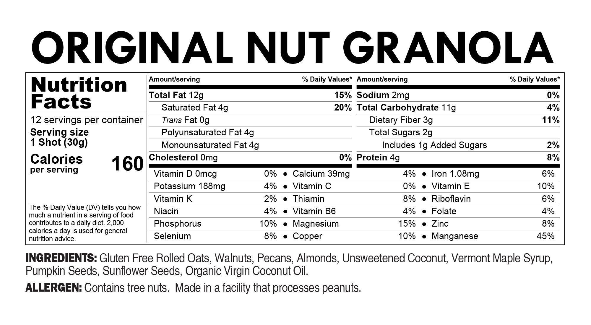 Elan healthy breakfast cereal granola shots low sugar