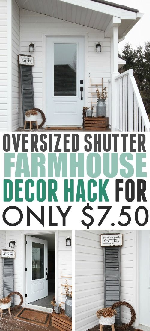 This oversized shutter farmhouse decor idea is  great way to fill boring blank wall also rh pinterest