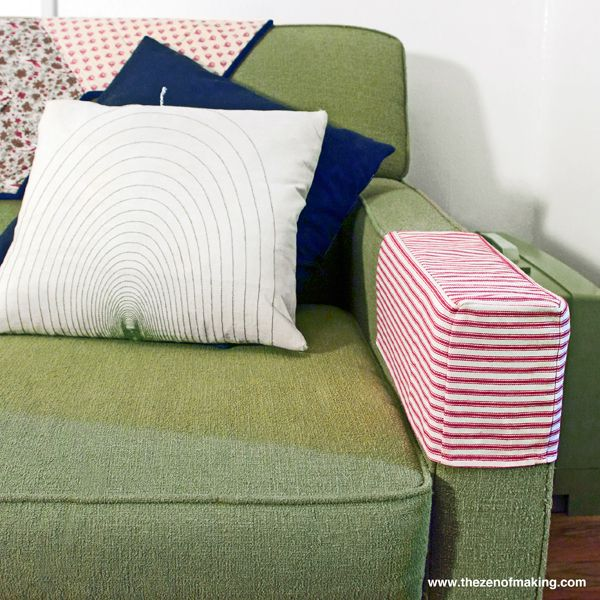 Tutorial Simple Fabric Armrest Covers How To Make Sofa Sofa