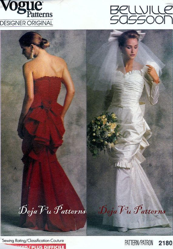 This 1989 Wedding Dress Pattern Is Absolutely Stunning With The Ruching And Under Bustling