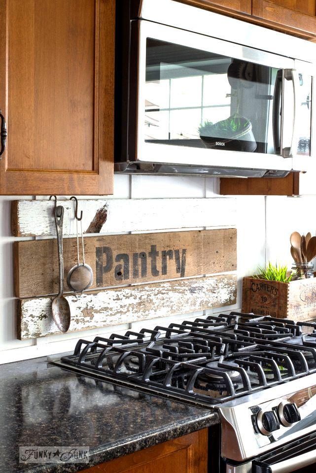 Interchangeable Rustic Farmhouse Kitchen Signs Farmhouse Kitchen