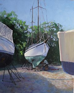 Soon to Sail by artist Marilyn Howard Flinn. #oilpainting found on the FASO Daily Art Show -- http://dailyartshow.faso.com