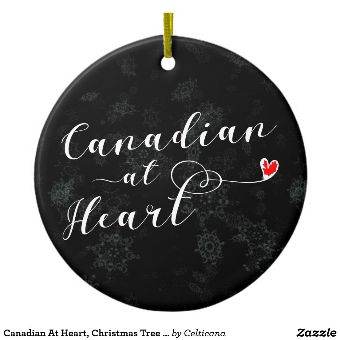 Canadian at heart christmas tree ornament