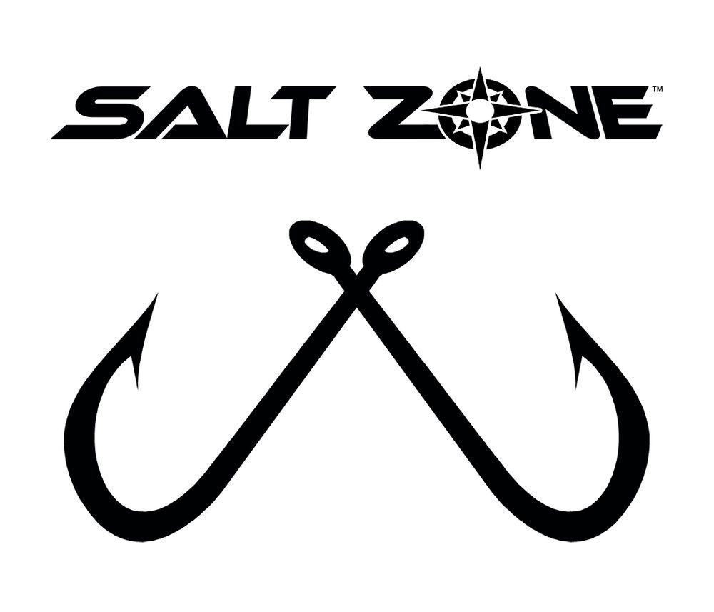 Salt zone logo window decal sticker reel lifehooks fishing saltwater rod saltzone