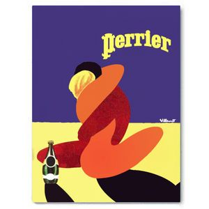 Perrier Love, Purple And Yellow Vintage Art - new in prints & art
