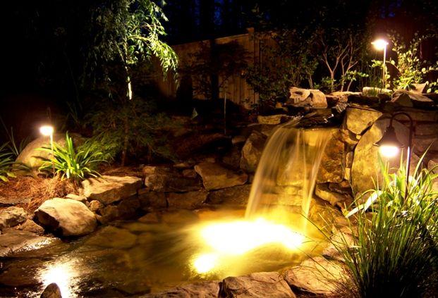 Water And Light Modern Landscape Lighting Pond Lights Landscape Lighting