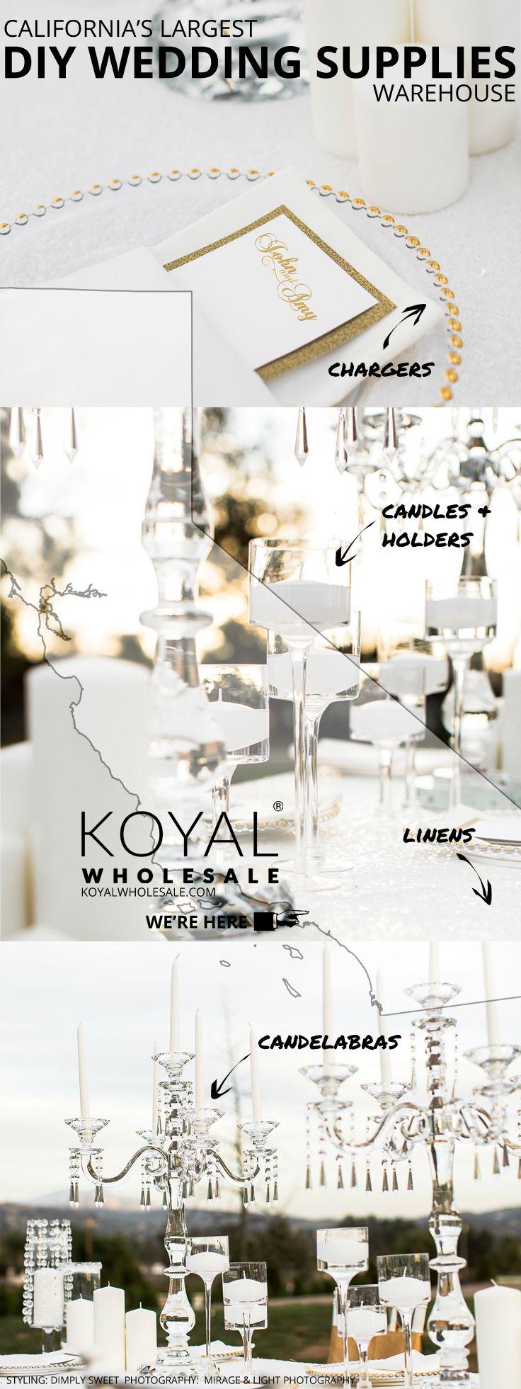 Koyal Wholesale Largest Diy Wholesale Wedding Supplies Warehouse In Southern Calif Wedding Supplies Wholesale Diy Wedding Supplies Personalized Wedding Decor