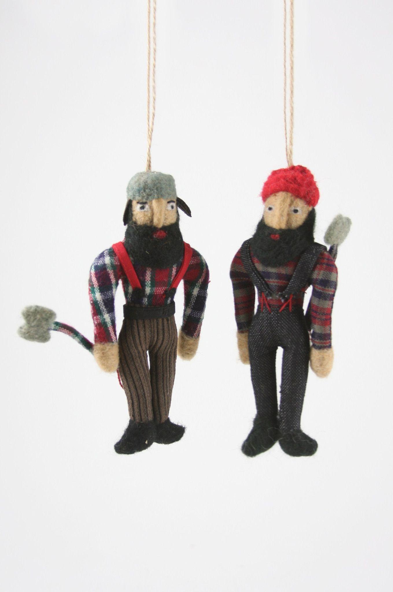 Lumberjack Dolls Christmas Ornaments  Christmas ornament sets