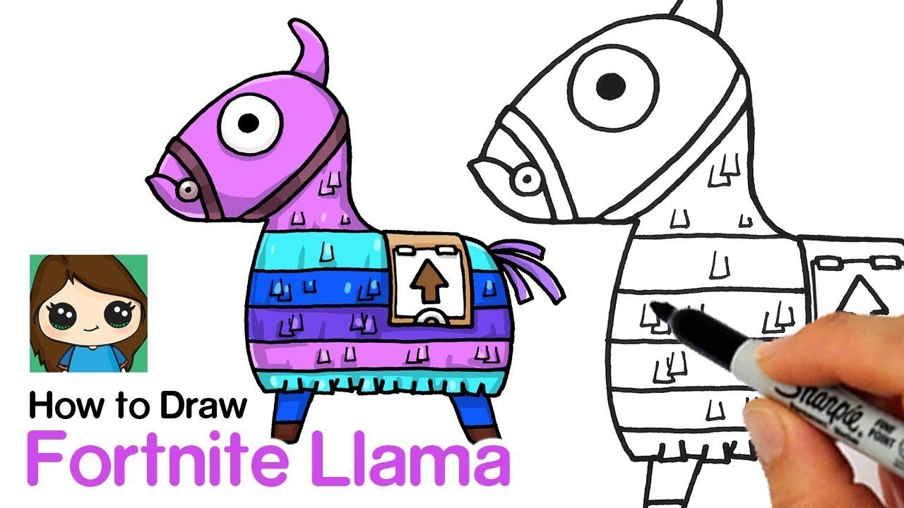 How To Draw A Fortnite Llama Art In 2019 Cute Drawings