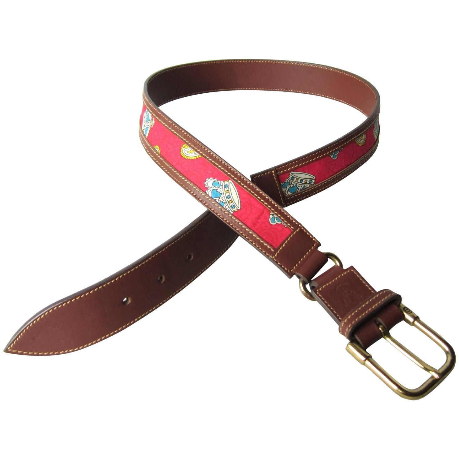 1990s Gucci Leather King Belt New Old Stock From a