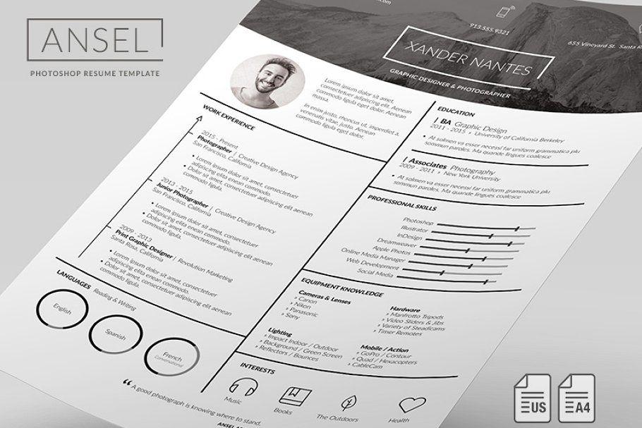 Ansel resume template resume template
