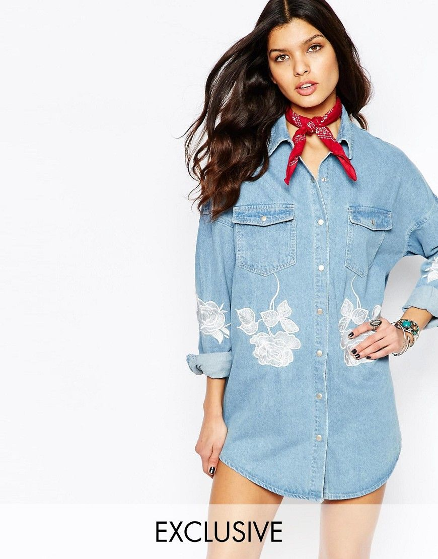 Pin By Marut On Bandanas And Co Pinterest Denim Shirt Dress And