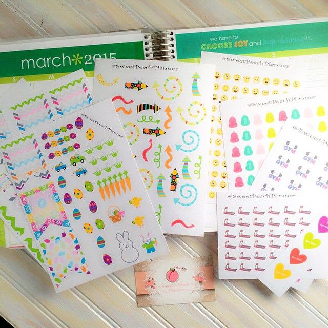 My first #FridayFavorite is @SweetPeachPlanner. Adorable images and excellent customer service. Click her profile for a link to her shop. I especially love the treadmill stickers! #plannerlove #planneraddict #plannernerd #eclp #erincondren #ecfgw #welovee