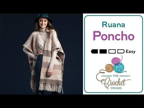 Crochet Ruana Poncho + Tutorial - The Crochet Crowd | Crochet ...
