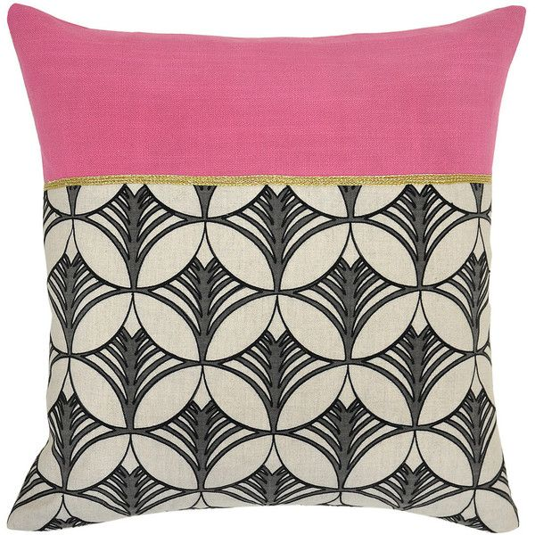 Lexi Bright Pink Pillow Design By Villa Home Found On Polyvore Pink Pillows Throw Pillows Cotton Throw Pillow