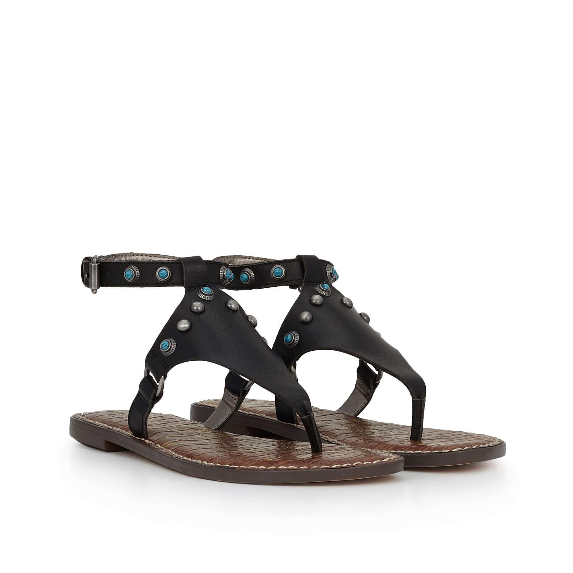 b4f1cf385 Galena Ankle Strap Sandal by Sam Edelman - Black Leather - View 1 ...