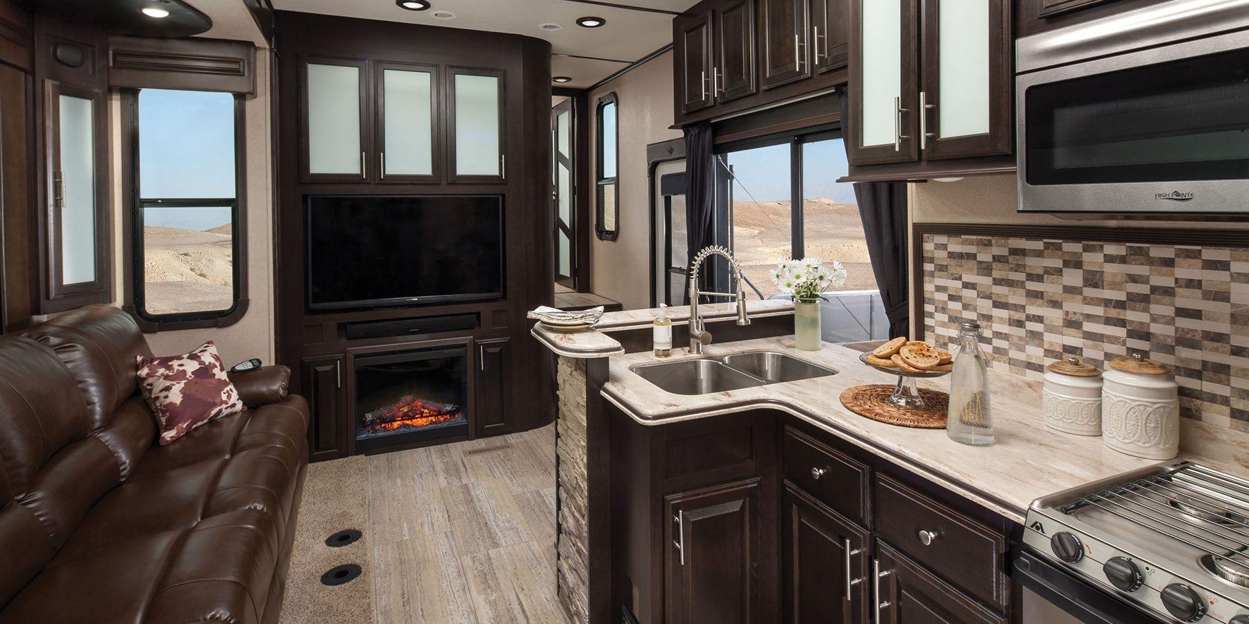 5th wheel front kitchen floor plans Google Search RV