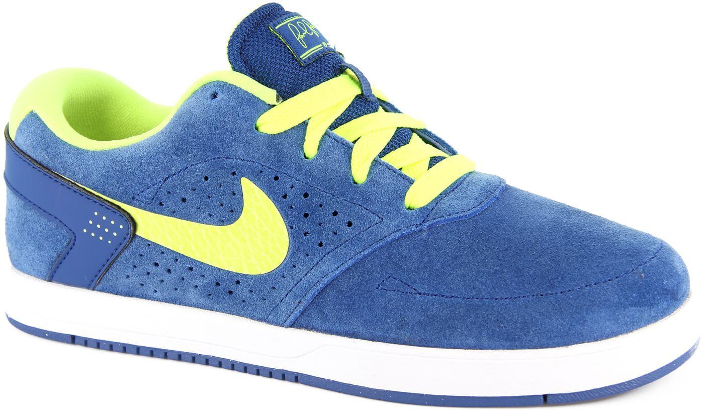 Nike SB P. Rod 6 Jr Skate Shoes - dark royal blue/volt -