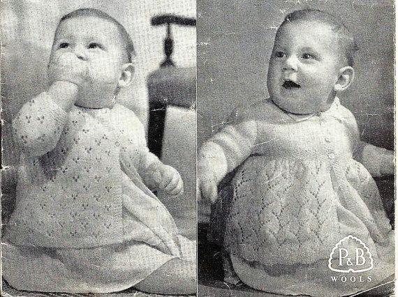 PDF Patons Knitting Pattern #363, 3Ply, Three Matinee Coats up to 9 ...