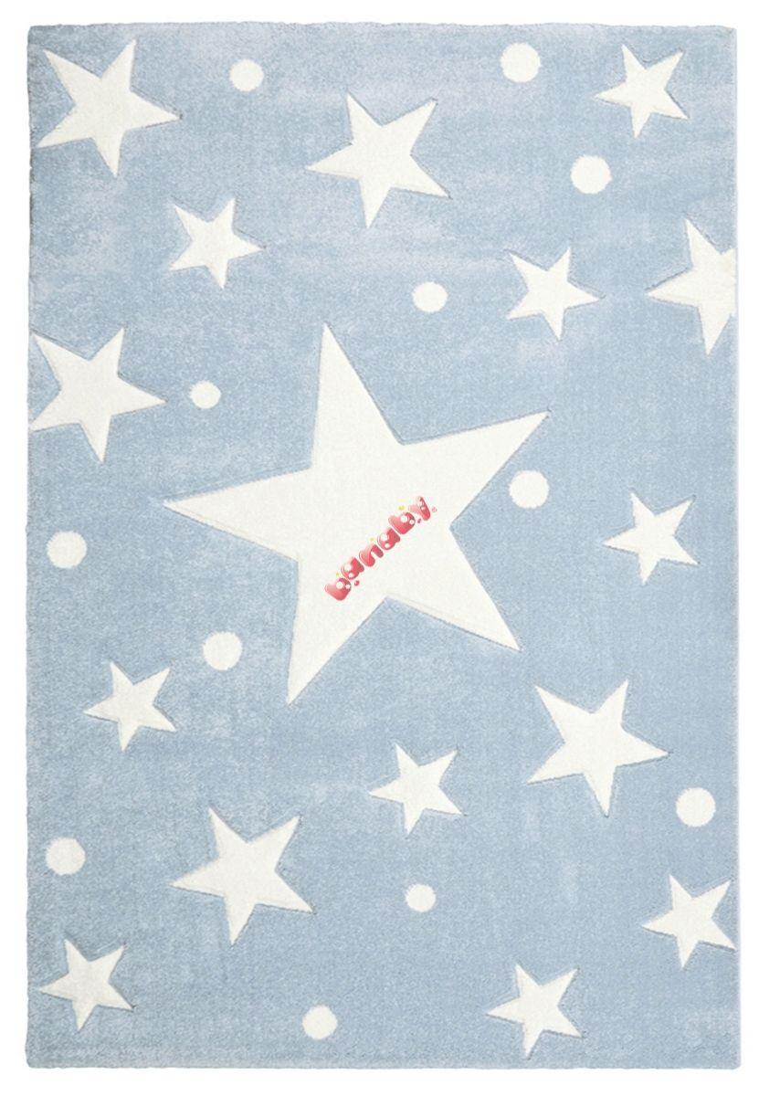 Gyerek szőnyeg STARS kék-fehér - banaby.hu