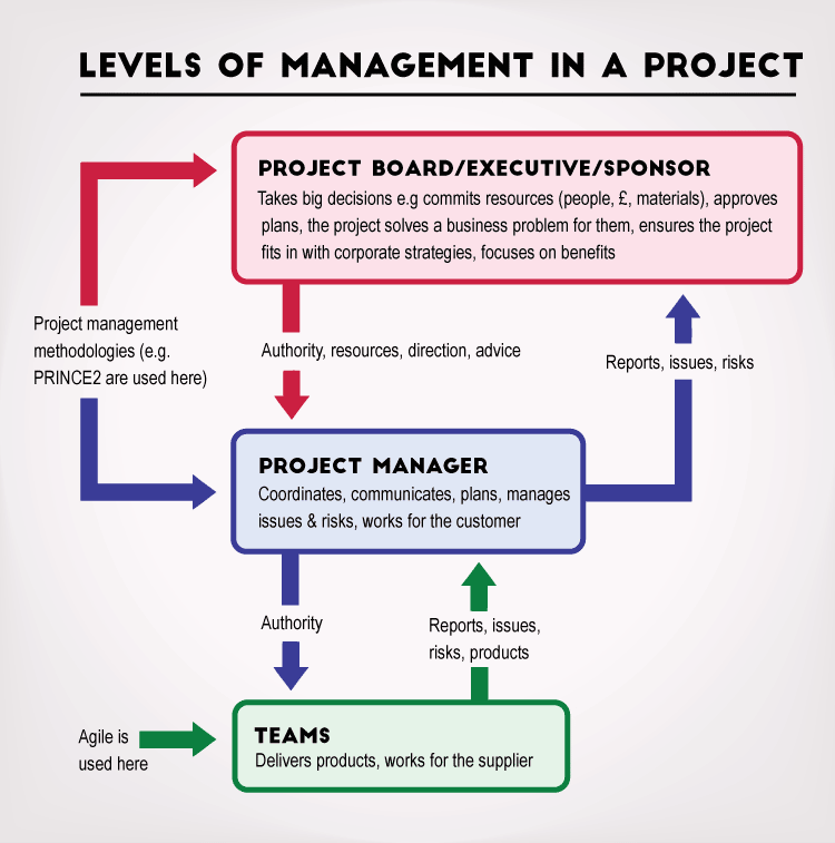 Diagram The  Levels Of Management In A Project  Agile Project