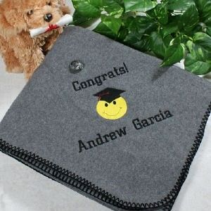 Gift · Personalized Embroidered Graduation Throw Blanket