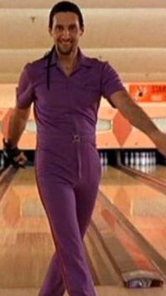 The Big Lebowski Thejesus Jesusquintana Lebowskifest Purplejumpsuit Thebiglebowski Bowling Cultfollowing The Big Lebowski Purple Jumpsuit The Man Show
