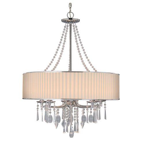 golden lighting chandelier. Echelon Chrome Five Light Chandelier With Bridal Veil Shade Golden Lighting Other Chandeli T