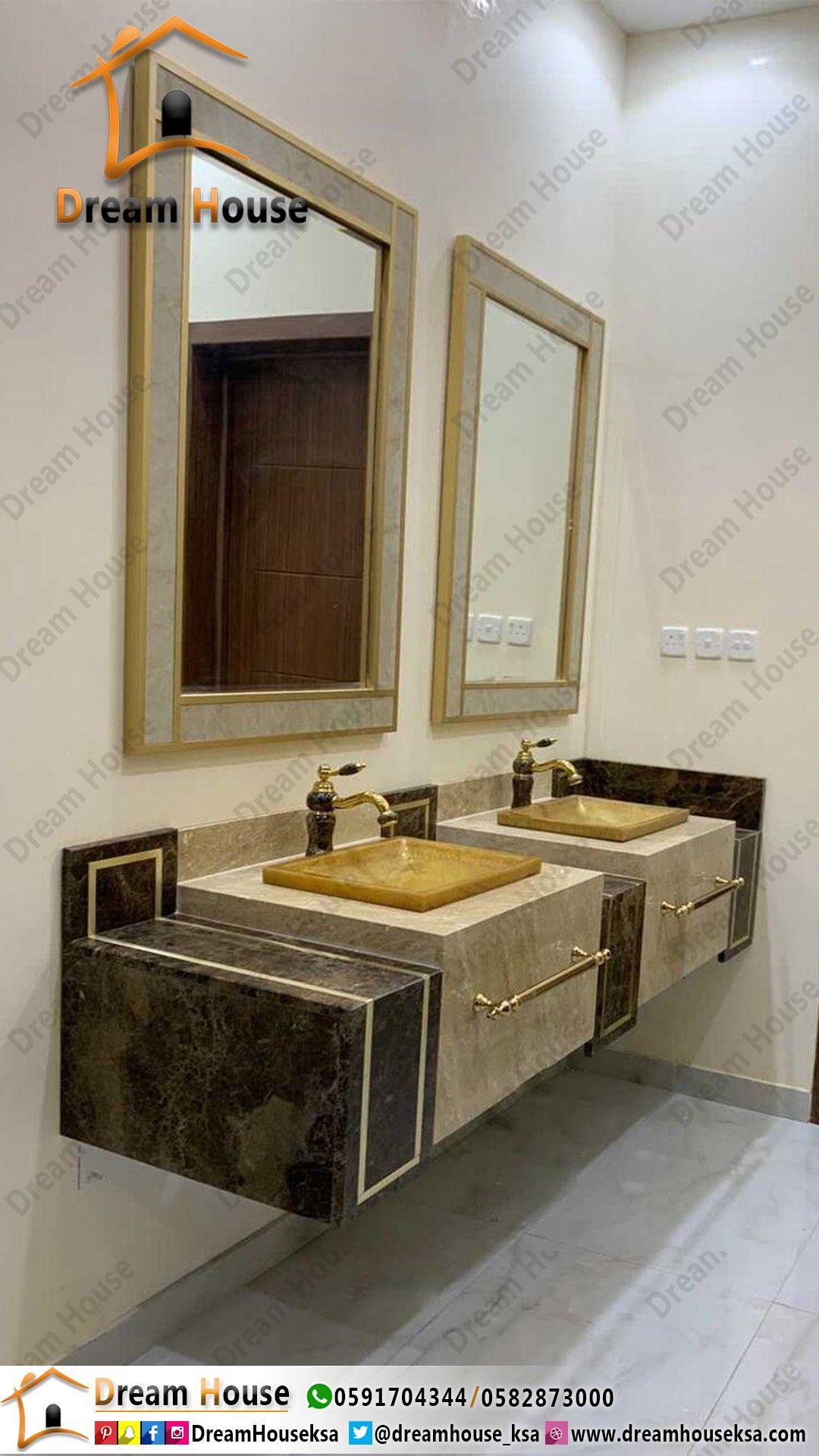 مغسلة أحد عملائنا بعد التركيب In 2021 Bathroom Mirror Bathroom Vanity Double Vanity