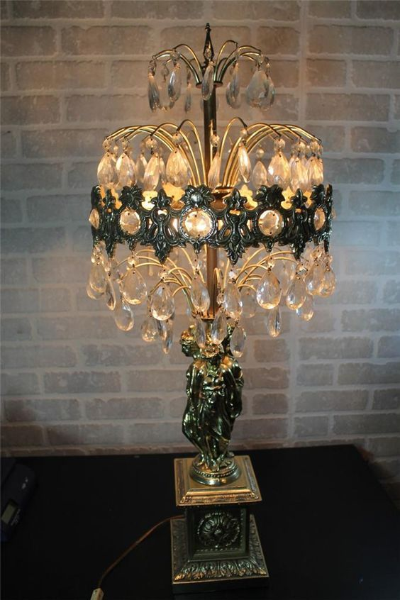 Ll Wmc Loevsky Table Lamp Prism Crystal Chandelier