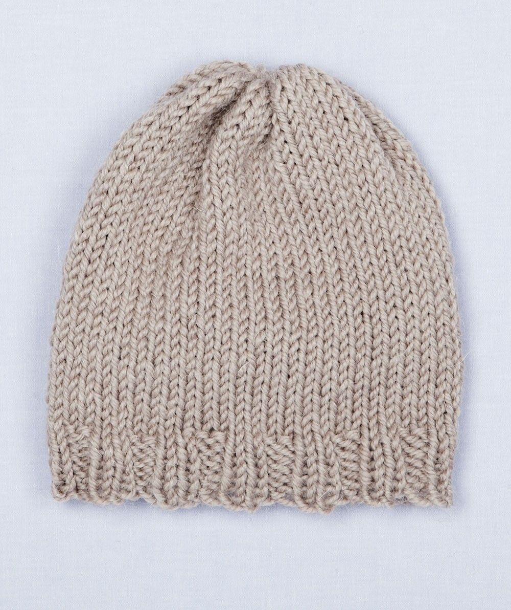 Loom Knit Simple Hat | Loom work niffty knitter | Pinterest | Loom ...